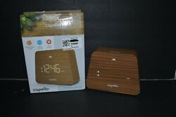 Capello Digital LED Modern Mantle Alarm Clock Wood Grain Finish