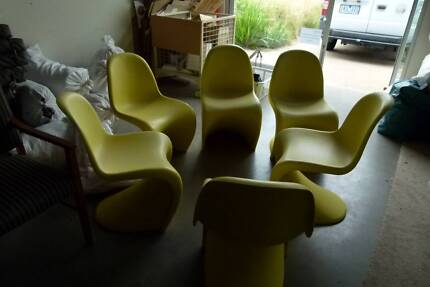 Set of 6 Paton Vintage Design produced by Vitra  Design Yellow