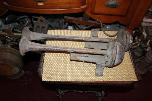 Antique Ahooga Aooga Trumpet Automobile Car Horns Double Horn With Bracket