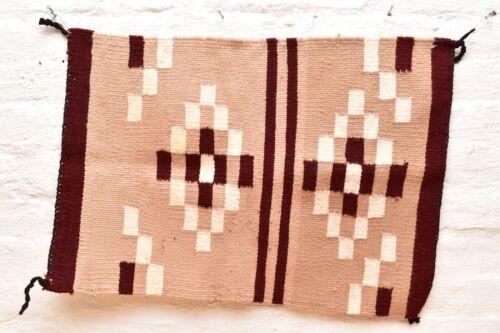 Vintage Navajo Blanket Rug native american indian Transitional Antique 25x18