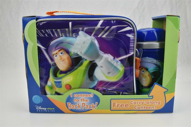 Disney Store Exclusive Buzz Lightyear Toy Story Lunch Box w/ Canteen