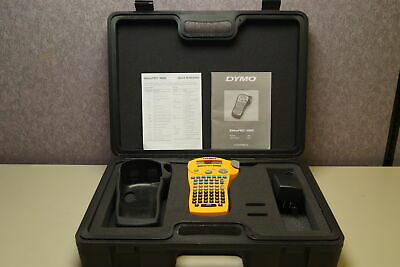 Dymo Rhino Pro 5000 Labeler With Case Manual Power Adapter
