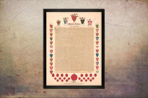 1894 MAGNA CARTA 12X16 PRINT AUTHENTIC COPY