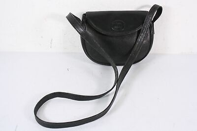 Entrupy Authenticated Gucci Vintage Black Pebbled Leather Small Cross Body Bag