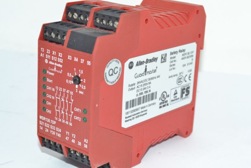 Allen-Bradley 440R-M23084 Relay, Single Function, Safety, with Delayed Outputs,