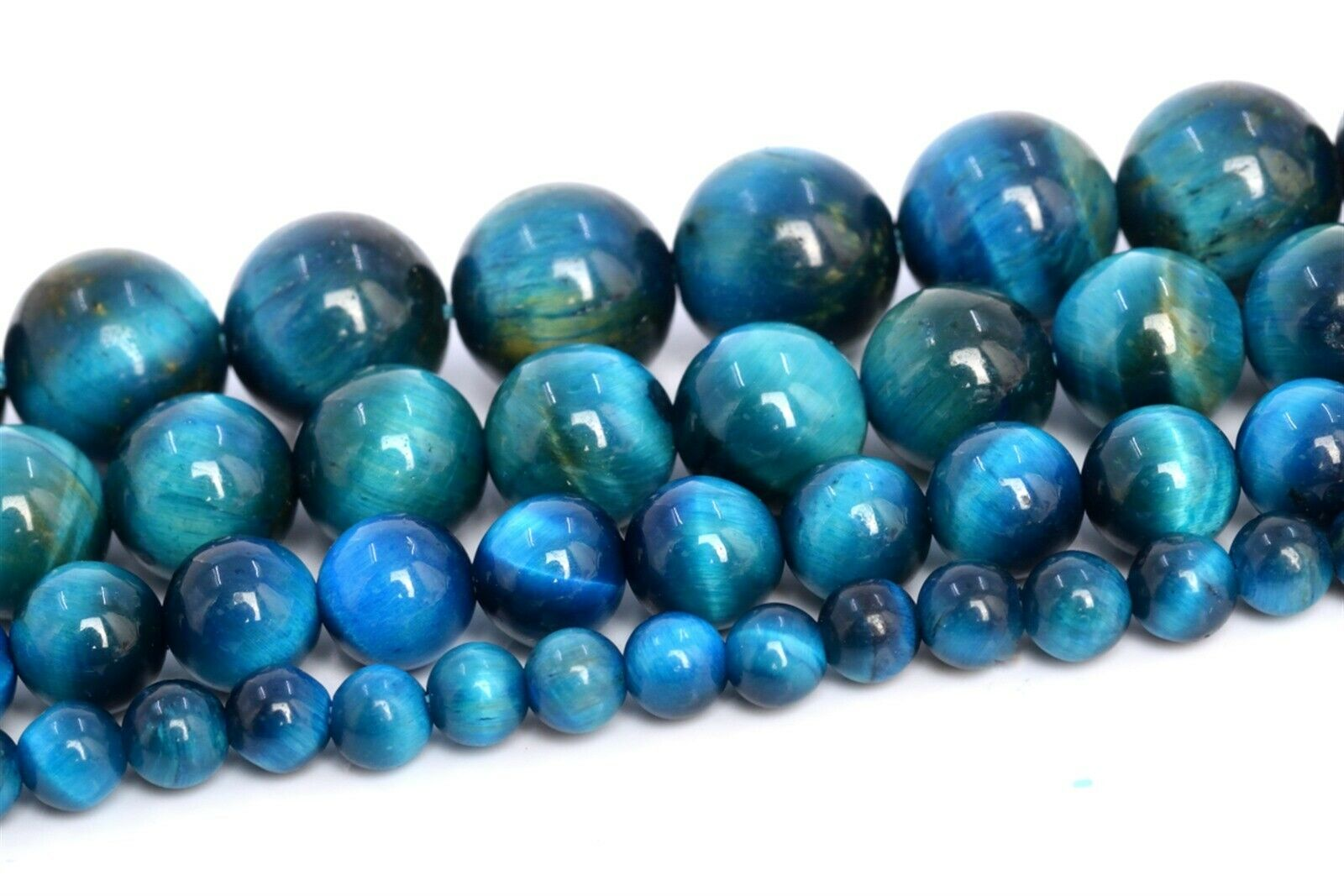 """BLUE ROUND 10MM LOOSE BEADS 8/"""" 10MM CHALCEDONY BLUE LACE AGATE GEMSTONE AAA"""