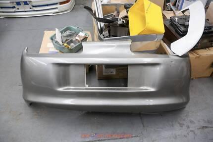 Silver Toyota Supra rear bumper