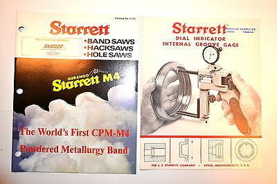 Starrett Saw Catalog C174 Dial Indicator Internal Groove Gage Bulletin Rr408
