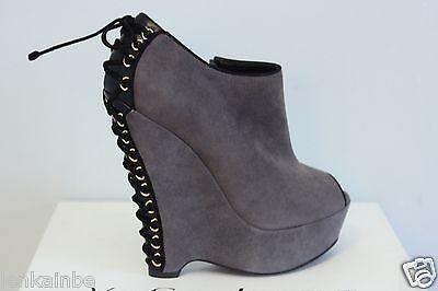 Kyпить YSL Yves Saint Laurent Madge 105 Black Seppia Suede Wedge Ankle Boots 35.5 5.5 на еВаy.соm