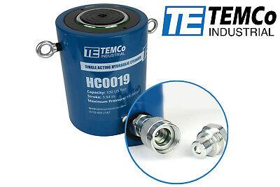 Temco Hc0019 - Hydraulic Cylinder Ram Single Acting 100 Ton 4 Inch Stroke
