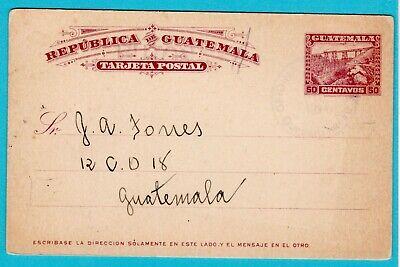 GUATEMALA postal card 124 Quezaltenango to Guatemala