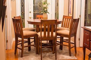 RUSTIC 7pc. Pub / Dining Table Set - LIKE NEW