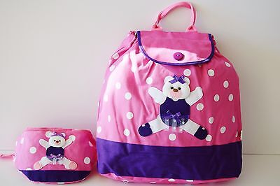 BALLET BALLERINA BEAR BACKPACK & FANNY PACK - NEW! SPECIAL $12.99 w/ Free Ship