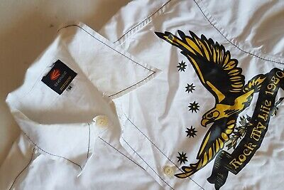 Vintage Clothing, Groovy Energie designer shirt, Eagle Print, ITALY, Classy Chic