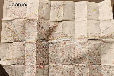 20723 alter Stadtplan Dresden 1:20.000 mit Straßenverzeichnis 1968
