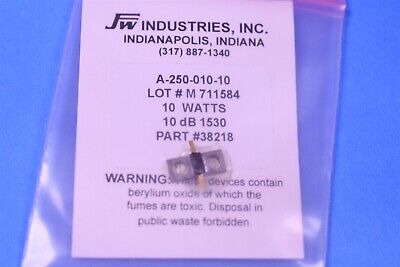Jfw Industries 10w 10 Db Attenuator A-250-010-10 Smt