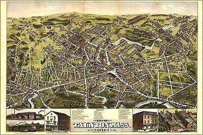 Poster, Many Sizes; Map Of City Of Taunton, Massachusetts 1875
