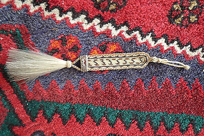 ANTIQUE NATIVE AMERICAN FINE WOVEN HAIRPIECE INTRICATELY WOVEN FROM HORSE HAIR