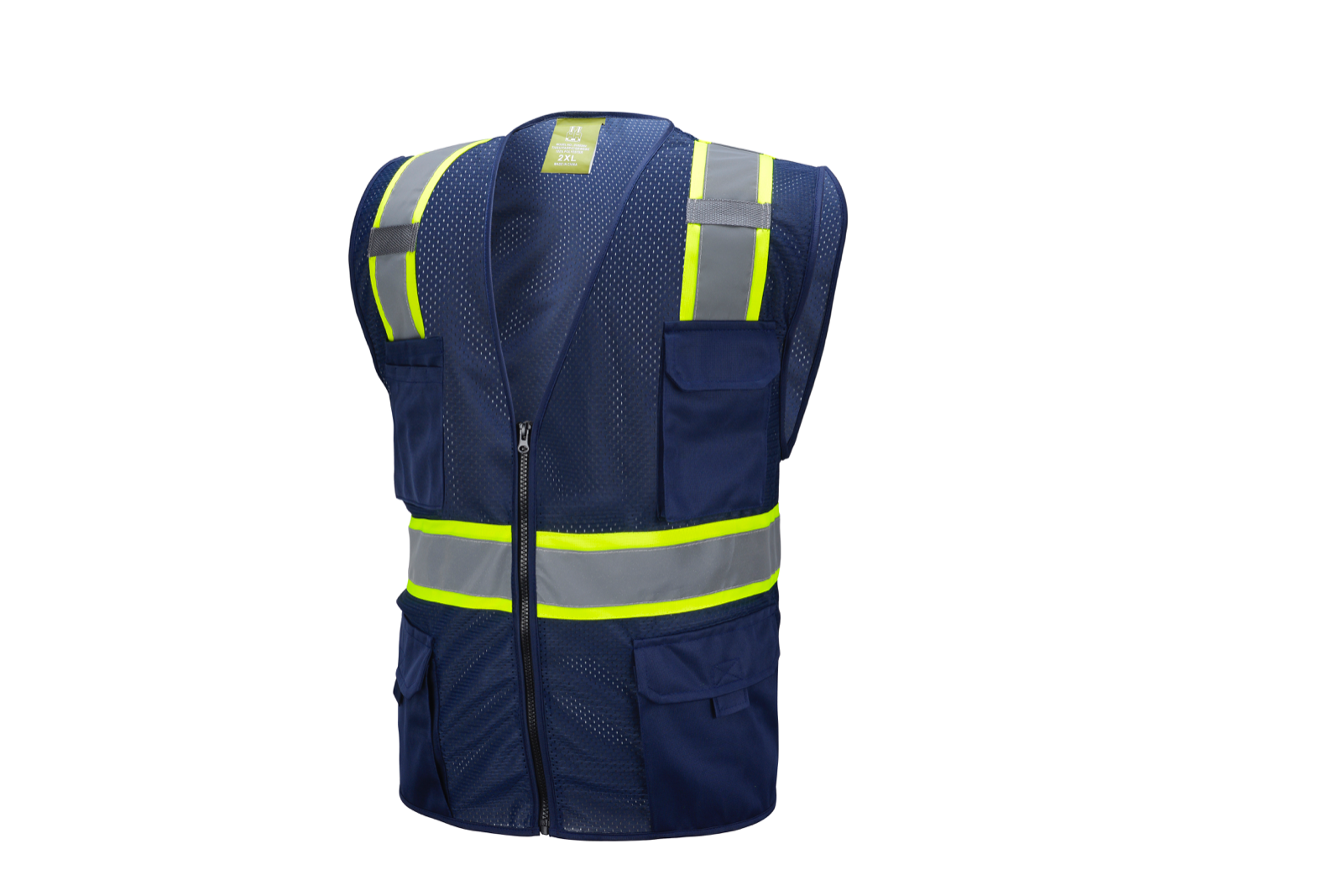 Navy Two Tones Safety Vest ,With Multi-Pocket Tool