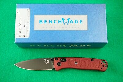 BENCHMADE 533BK-1 MINI BUGOUT, CPM-S30V, AXIS LOCK, DARK RED HANDLE, NEW IN BOX