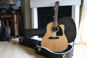Epiphone AJ Acoustic/Electric Guitar and Hard Case