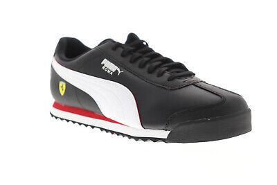 Puma Scuderia Ferrari Roma Mens Black Motorsport Low Top Sneakers Shoes