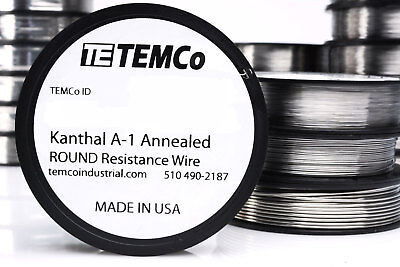 Temco Flat Ribbon Kanthal A1 Wire 0.4mm X 0.1mm 1000 Ft Resistance A-1