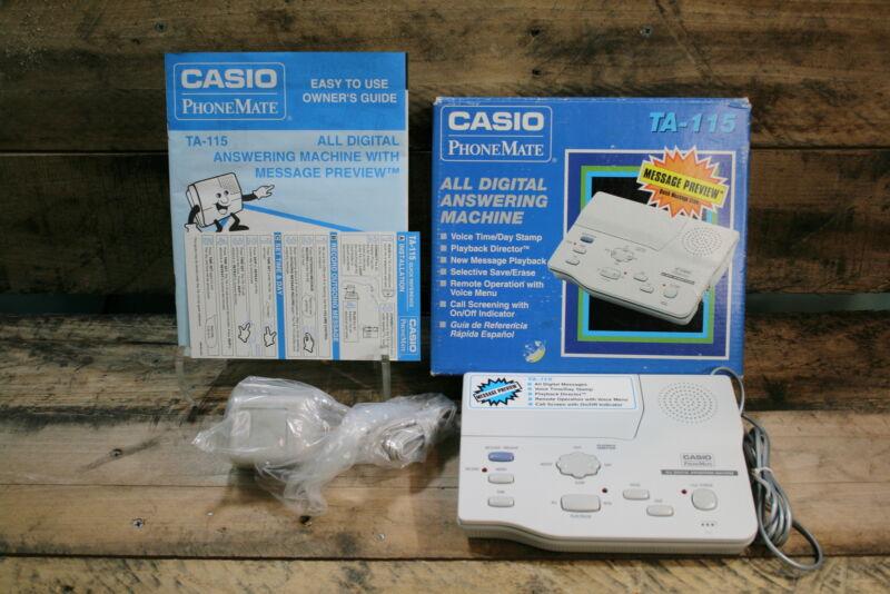 Casio: PhoneMate TA-115 Digital Answering Machine   Open Box