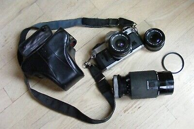 Canon AE-1 Program 35mm Camera with 28mm, 50mm and 70-210 Lenses