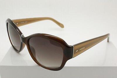 Fossil 3028/S XL7B1 Brown Amber Full Rim Sunglasses Size 55-16-135 mm