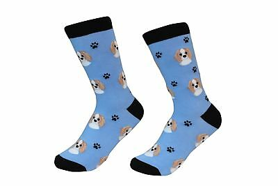 Cavalier King Charles Spaniel Dog Breed Socks Unisex Sock Daddy by E&S Pets ()