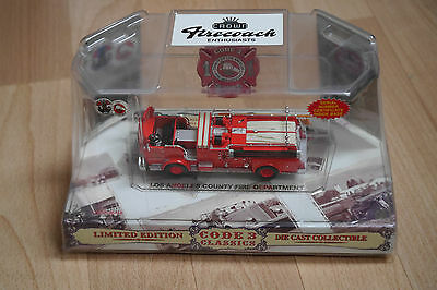 Code 3 Los Angeles County Crown Firecoach Pumper Engine 60