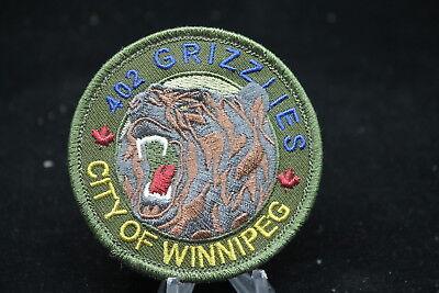 Canadian RCAF 402 Squadron Grizzlies City of Winnipeg Squadron Crest Patch