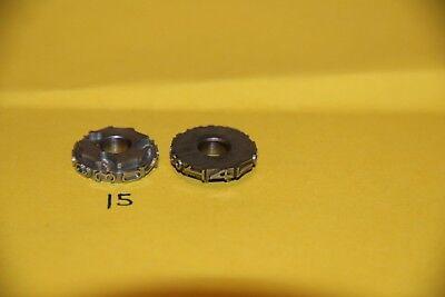 Lot Of 2 Leibinger Letterpress Numbering Machine Wheels D 1470369258