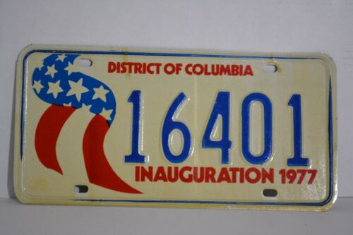 Vintage District of Columbia Inauguration 1977 License Plate 77 DC