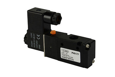 New 24v Dc Solenoid Air Pneumatic Control Valve 3 Port 3 Way 2 Position 14 Npt