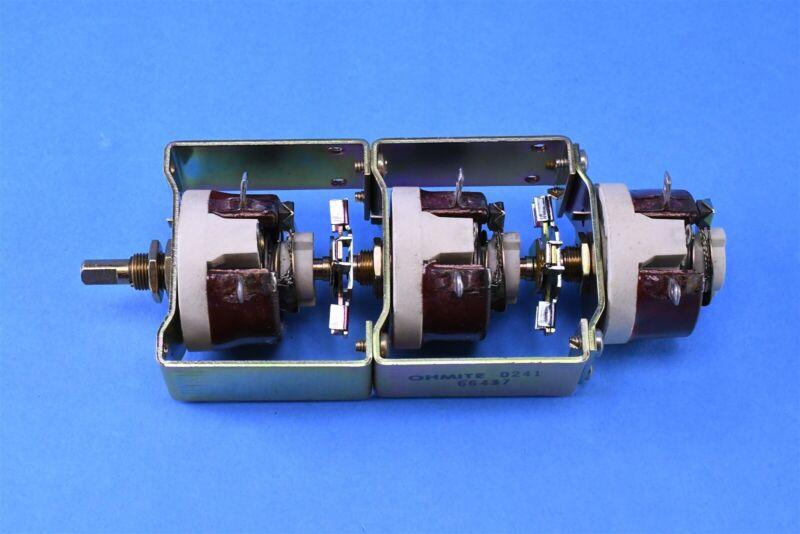 OHMITE 1CZ-128 Rheostat Triple Tandem 250 OHM 1CZ128
