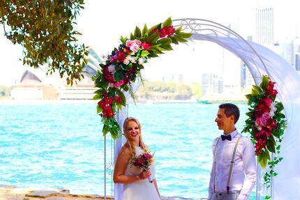 Wedding Arch for Hire, Arbour for rent, flowers available.