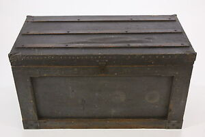 Antique Wooden Tool Box Carpenter Chest Hand Constructed Heavy Duty Primitive