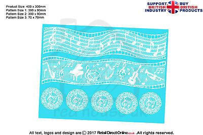 Cake Lace Mat | Musical Notes | Cakes Cupcakes Decorating Craft