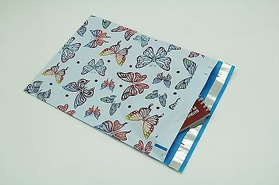 200 Bags 100 10x13 Butterfly 100 10x13 Blue Hearts Designer Poly Mailer