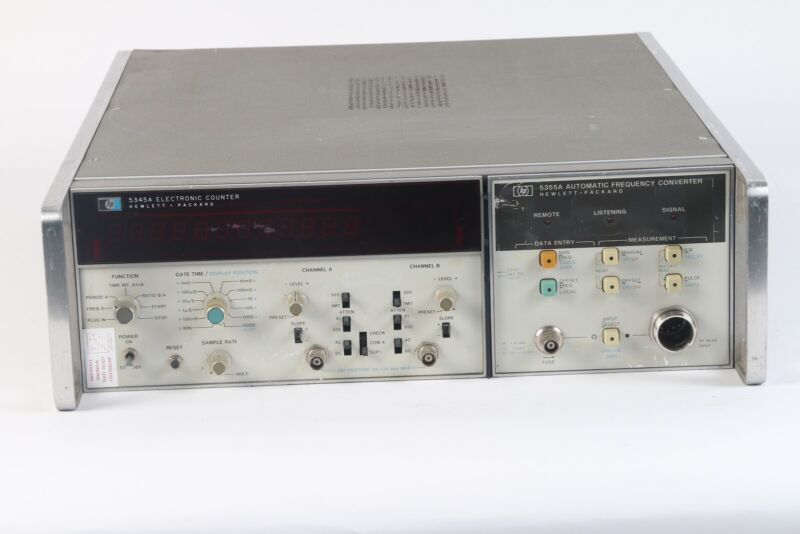 HP 5345A Electronic Universal Counter 500 MHz Option 012 W/ 5355A