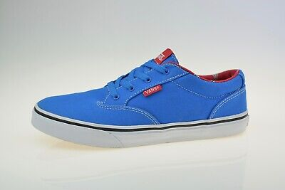 Vans Atwood Junior Canvas Blue TB4R Boys Trainers Size Uk 5.5
