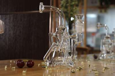 REANICE Small bong glass water pipe 14.5mm glass bubbler water recycler
