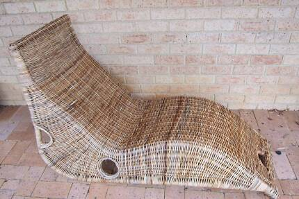 Cane / wicker outdoor recliner lounges
