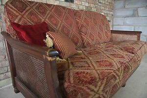 QUALITY ERCOL HARDWOOD BERGERE TETRAD/KILIM/COUNTRY STYLE SOFA - REMOVABLE COVER