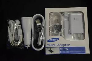 Samsung Adaptive Fast Charger + Earphone +Fast Car Charger Hallam Casey Area Preview