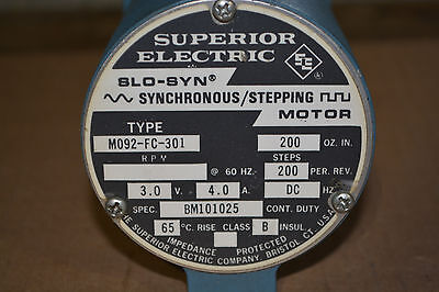 Superior Electric Slo-syn Synchronousstepping Motor M092-fc-301
