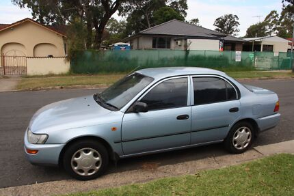 1998 Toyota Corolla Sedan Sky Blue with Log Books Pendle Hill Parramatta Area Preview