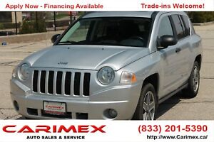 2009 Jeep Compass Sport/North 4x4 | Sunroof | MANUAL | CERTIFIED